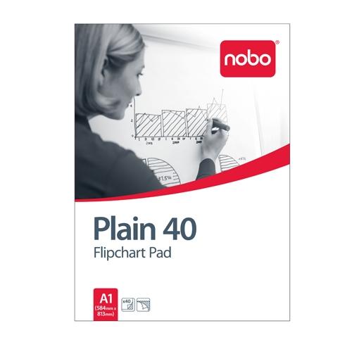 NOBO Flipchart Pad Plain 40
