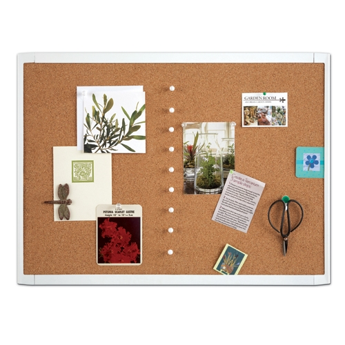 QUARTET White Frame Cork Board