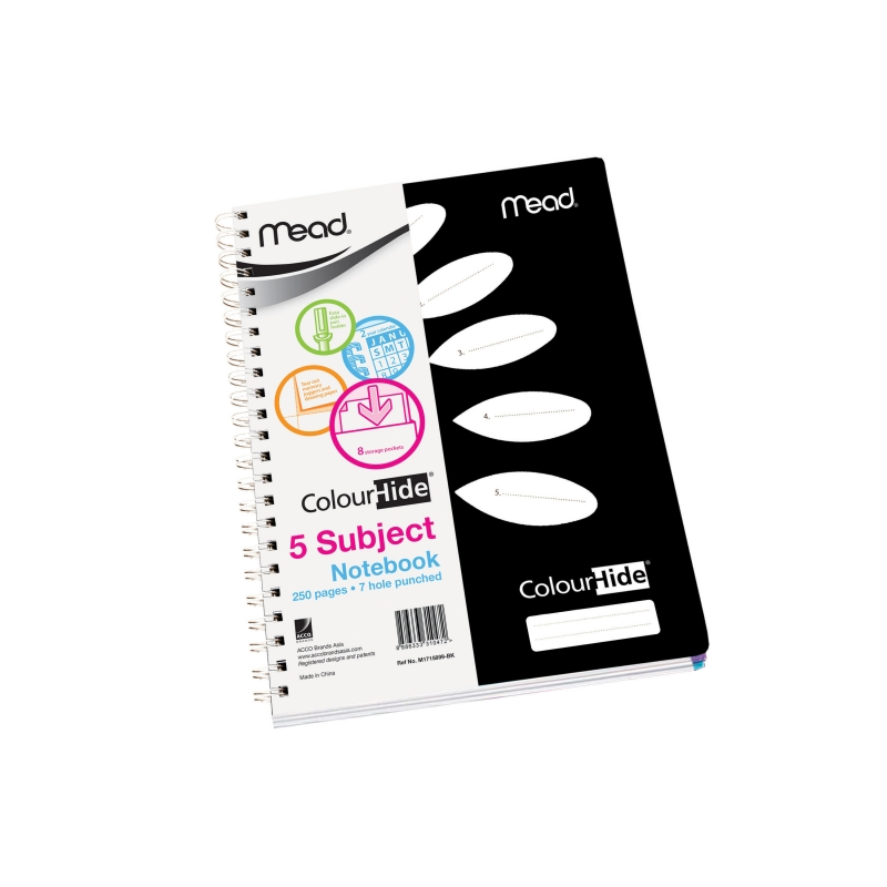 MEAD ColourHide® 5 Subject Notebooks