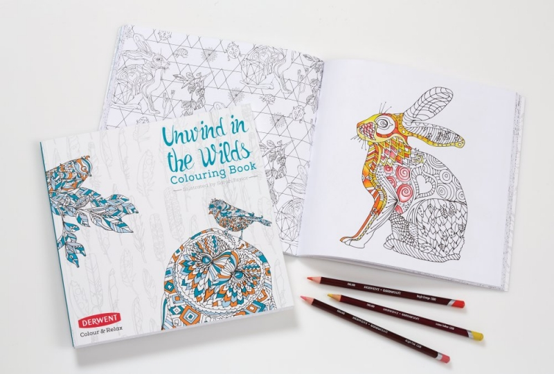 DERWENT Unwind in the Wilds Colouring Book