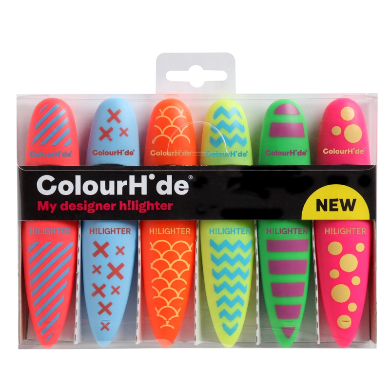 COLOURHIDE My Designer Highlighters PK6 Assorted