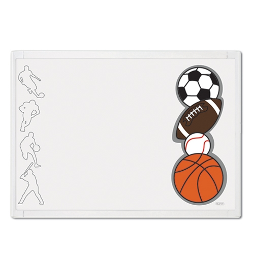 QUARTET White Frame Sports Combination Board