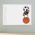 QUARTET White Frame Sports Combination Board